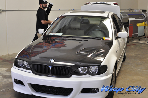 Bmw Vinyl Roof Wraps Wrap City San Diego Vehicle Wraps