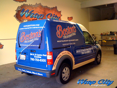 Project Ford Transit Connect Wrap Install