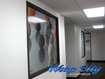 Perforated Interior Windows Vinyl Wrap