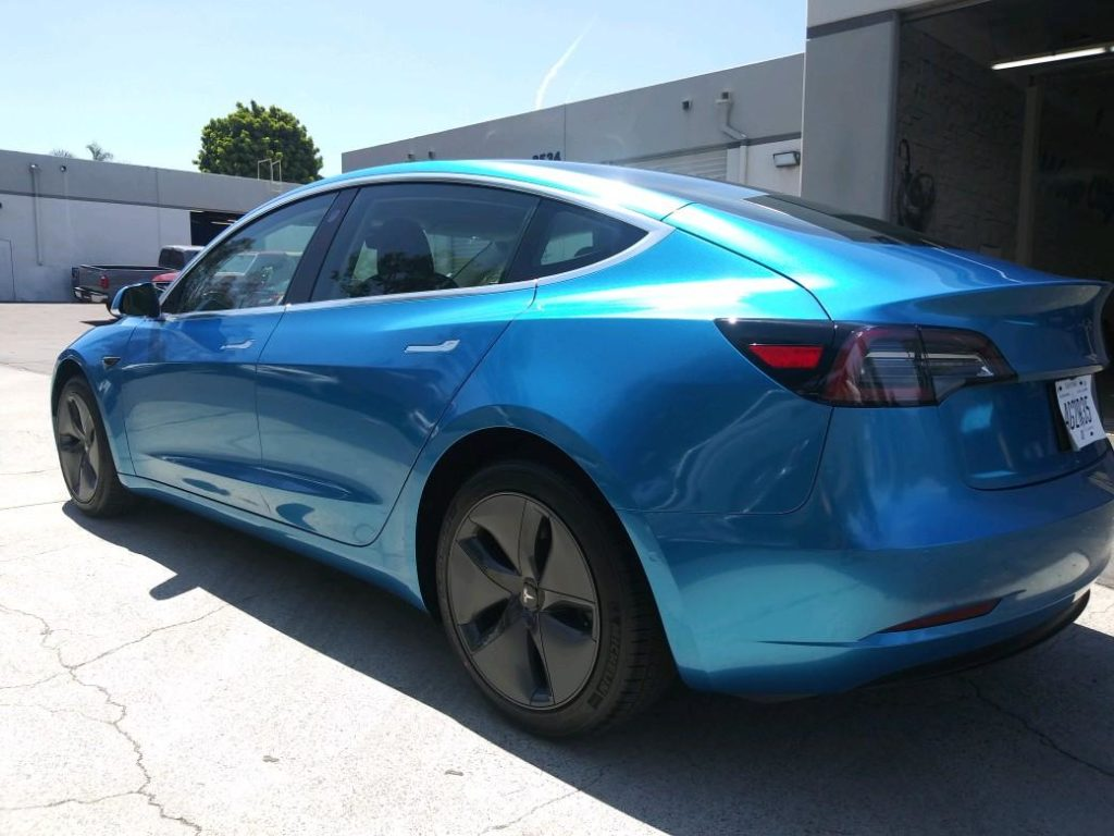 Tesla Model 3 Gloss Metallic Blue 3M Vinyl